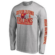 Men's Fanatics Branded Heather Gray USC Trojans 2017 Rose Bowl Bound Playbook Long Sleeve T-Shirt