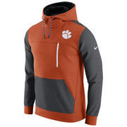 Men's Nike Orange/Charcoal Clemson Tigers AV15 Fleece Pullover Hoodie