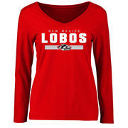 Women's Red New Mexico Lobos Team Strong Long Sleeve Slim Fit T-Shirt