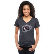 Women's Navy UTEP Miners Classic Primary Tri-Blend V-Neck T-Shirt