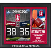 Stanford Cardinal Framed 2015 Win Over Notre Dame Fighting Irish 15