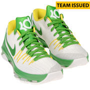 Oregon Ducks Team-Issued White and Green Kevin Durant Nike Zoom Basketball Shoes