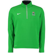 Men's Nike Kelly Green Marshall Thundering Herd Football Coaches Sideline Half-Zip Tri-Blend Performance Knit Top