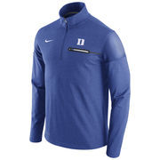Men's Nike Heathered Royal Duke Blue Devils 2016 Elite Coaches Dri-FIT 1/2 Zip Jacket