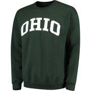 Men's Green Ohio Bobcats Basic Arch Sweatshirt