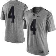 Men's Nike Heather Gray Florida State Seminoles Gridiron Gray Limited Football Jersey