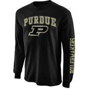Mens Purdue Boilermakers Black Arch & Logo Long Sleeve T-Shirt