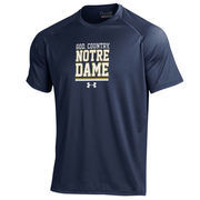 Men's Under Armour Navy Notre Dame Fighting Irish On-Field Graphics Performance T-Shirt