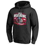 Men's Fanatics Branded Black Virginia Tech Hokies vs. Arkansas Razorbacks 2016 Belk Bowl Motion Matchup Pullover Hoodie