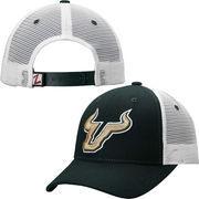 Mens South Florida Bulls Zephyr Green Basic Trucker Snapback Adjustable Hat
