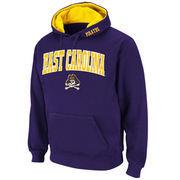 Men's Stadium Athletic Purple East Carolina Pirates Arch & Logo Pullover Hoodie