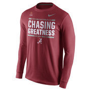 Men's Nike Crimson Alabama Crimson Tide 2016 College Football Playoff Bound Chasing Greatness Long Sleeve T-Shirt