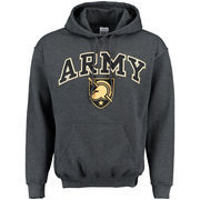 Men's New Agenda Charcoal Army Black Knights Midsize Arch Over Logo Hoodie