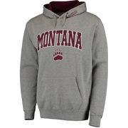 Men's Gray Montana Grizzlies Arch & Logo Pullover Hoodie