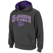 Men's Stadium Athletic Charcoal Kansas State Wildcats Arch & Logo Pullover Hoodie