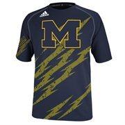 Michigan Wolverines adidas Aftershock Performance T-Shirt - Navy Blue