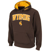 Men's Stadium Athletic Brown Wyoming Cowboys Arch & Logo Pullover Hoodie
