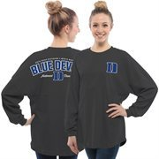 Women's Charcoal Duke Blue Devils 2015 NCAA Men's Basketball National Champions Rally Long Sleeve Top