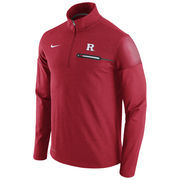 Men's Nike Heathered Scarlet Rutgers Scarlet Knights 2016 Elite Coaches Dri-FIT 1/2 Zip Jacket