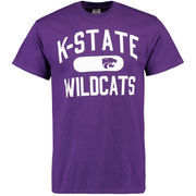 Men's Purple Kansas State Wildcats Athletic Issued T-Shirt