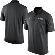Men's Nike Black Colorado Buffaloes Stadium Stripe Performance Polo