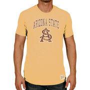 Men's Original Retro Brand Heather Gold Arizona State Sun Devils Vintage Tri-Blend T-Shirt