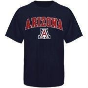 Men's New Agenda Navy Arizona Wildcats Arch Over Logo T-Shirt