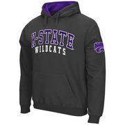 Men's Stadium Athletic Charcoal Kansas State Wildcats Double Arches Pullover Hoodie