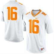 Men's Nike White Tennessee Volunteers No. 16 Game Football Jersey