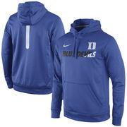 Men's Nike Royal Duke Blue Devils Sideline KO Fleece Therma-FIT Performance Hoodie