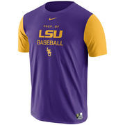 Men's Nike Purple LSU Tigers Baseball Performance T-Shirt