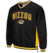 Men's Colosseum Black Missouri Tigers Big & Tall Fair Catch Pullover Jacket