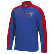 Men's adidas Royal Kansas Jayhawks 2016 Football Coaches 1/4 Zip Jacket