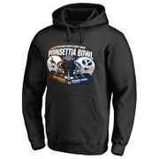 Men's Fanatics Branded Black BYU Cougars vs. Wyoming Cowboys 2016 Poinsettia Bowl Motion Pullover Hoodie