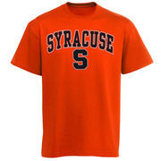Men's New Agenda Orange Syracuse Orange Arch Over Logo T-Shirt