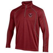 Men's Under Armour Maroon Boston College Eagles Contrast Stitch 1/4-Zip Jacket