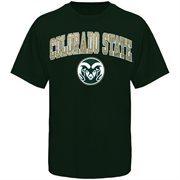 Men's New Agenda Green Colorado State Rams Arch Over Logo T-Shirt