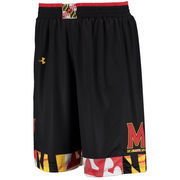 Men's Under Armour Black Maryland Terrapins Replica Basketball Performance Shorts