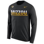 Men's Nike Black Missouri Tigers 2016 Staff Sideline Legend Dri-FIT Long Sleeve T-Shirt