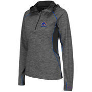Women's Colosseum Charcoal Boise State Broncos Hooded Wind Quarter-Zip Jacket