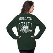 Women's Green Ohio Bobcats The Big Shirt Oversized Long Sleeve T-Shirt