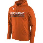 Men's Nike Texas Orange Texas Longhorns Circuit Pullover Performance Hoodie