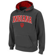 Men's Stadium Athletic Charcoal Indiana Hoosiers Arch & Logo Pullover Hoodie