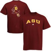 Mens adidas Maroon Arizona State Sun Devils Relentless T-Shirt