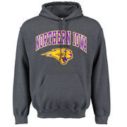 Men's Dark Gray Northern Iowa Panthers Midsize Arch Over Logo Hoodie