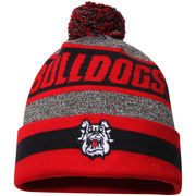 Men's Top of the World Charcoal Fresno State Bulldogs Cumulus Pom Knit Hat