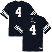 Youth Nike #4 Navy BYU Cougars Replica Football Jersey