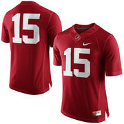 Men's Nike Crimson Alabama Crimson Tide #15 Limited Football Jersey