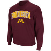 Men's Stadium Athletic Maroon Minnesota Golden Gophers Arch & Logo Crew Pullover Sweatshirt