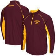 Men's Colosseum Maroon Minnesota Golden Gophers Lineman 1/4 Zip Jacket